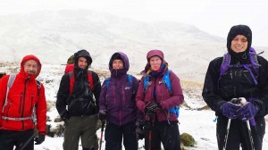 Winter walk up to Dove Crag, Lake District