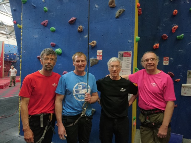 SMC members Phil, Paul, Richard, Ian at Climbathon