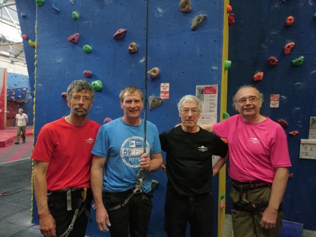 SMC members Phil, Paul, Richard, Ian at Climbathon