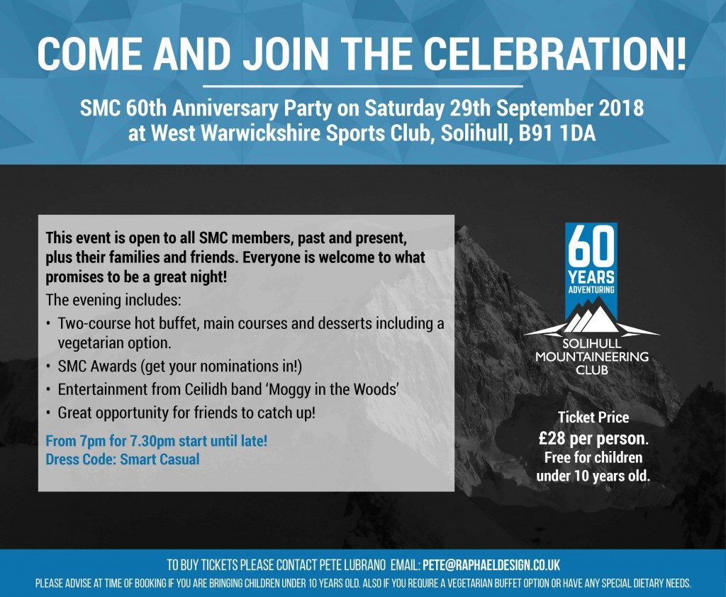 SMC 60th Anniversary Party on Saturday 29th September 2018 SQUARE