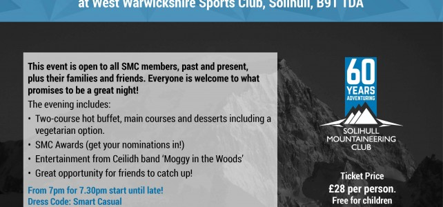 Tickets now on sale for SMC 60th Anniversary Party 29th September!