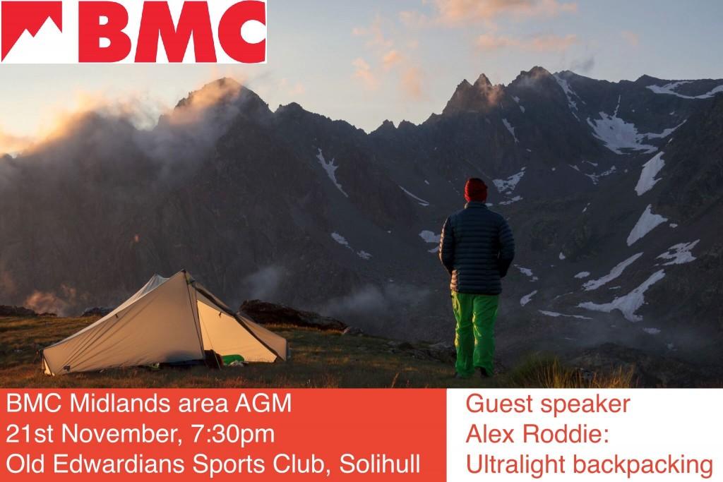 BMC Midlands Area Meeting & AGM Agenda Poster